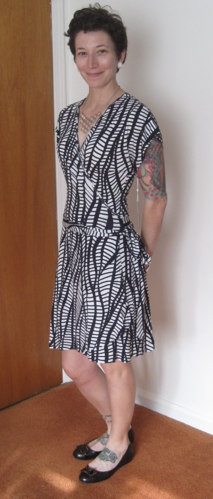 Tart Deena Abstract Print Belted Wrap Dress