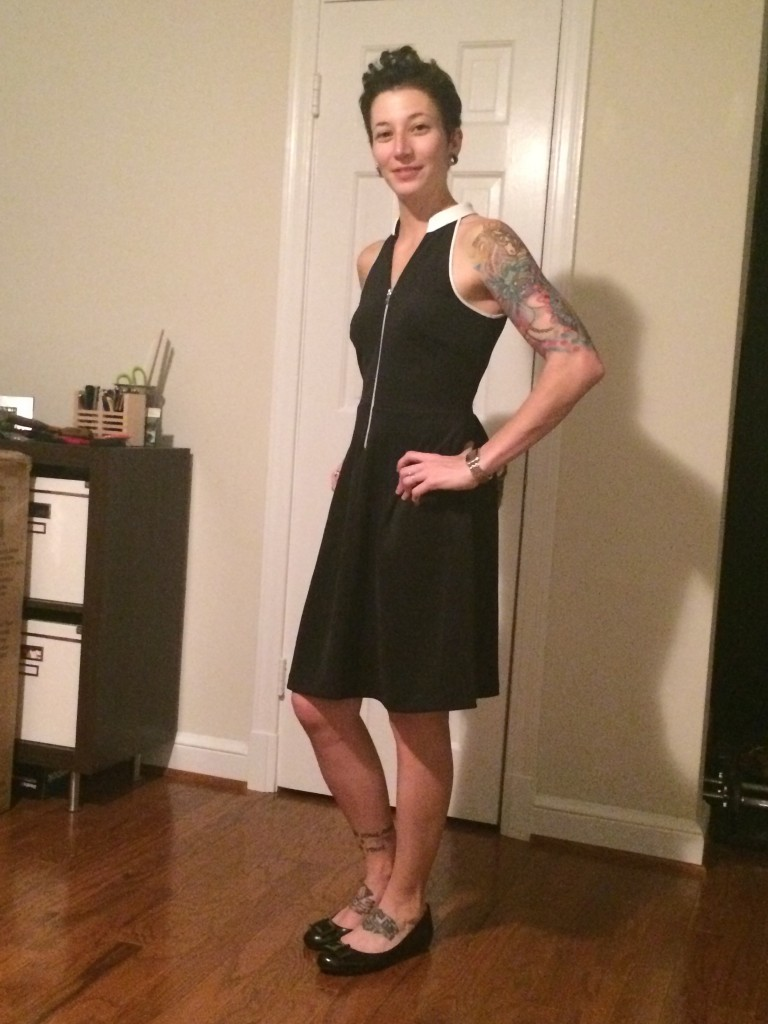 Marche Zipper Front Dress