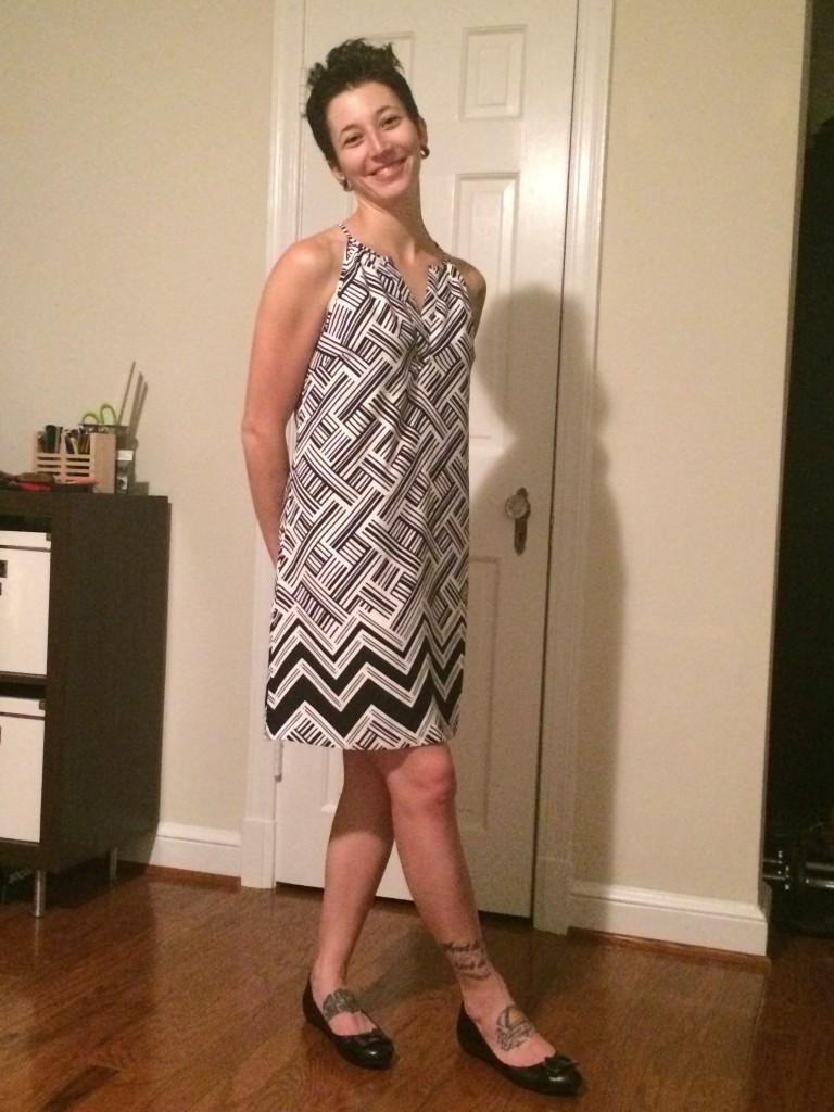 Sutton Mixed Chevron Print Dress