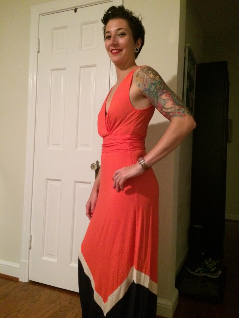 Market and Spruce Abi Colorblock Maxi Dress