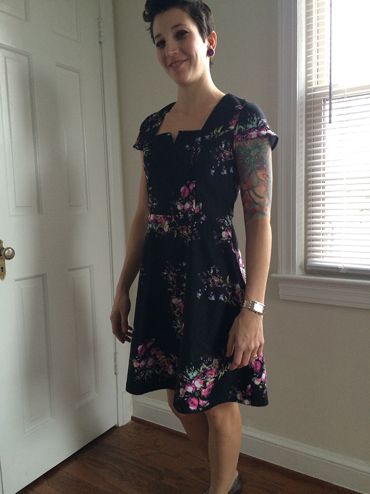 Yumi Trey Floral Dress (front)