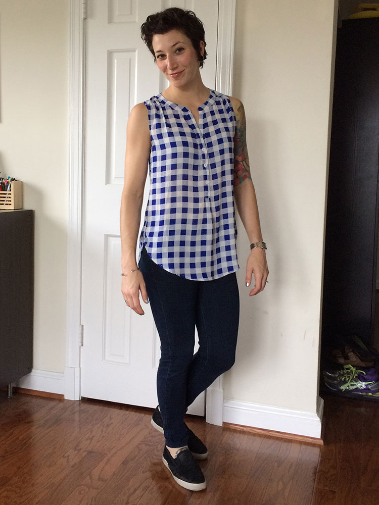 Pixley Panorama Henley Blouse (front)