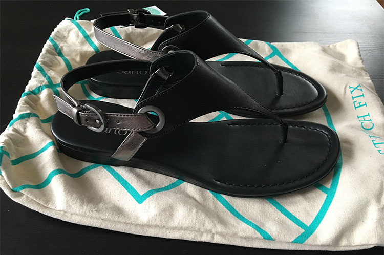 Franco Sarto Grip Thong Sandal (with dustbag)