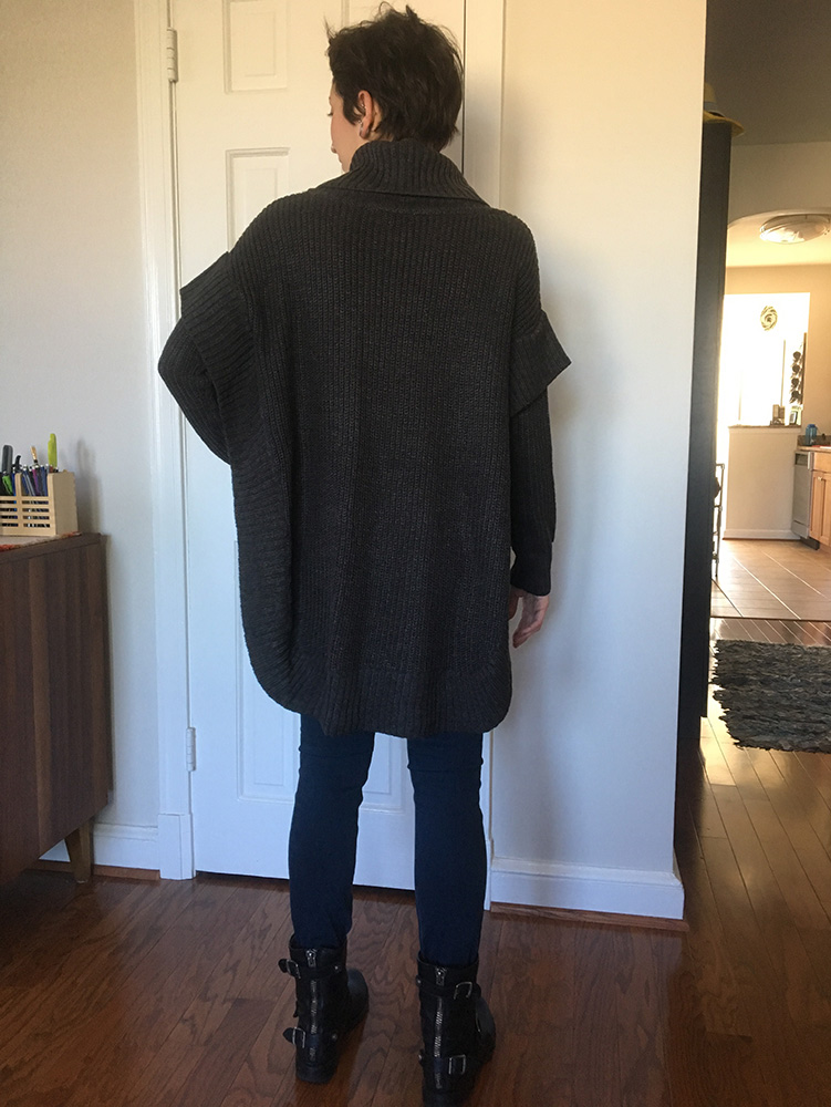 RD Style Jana Poncho Pullover (back)