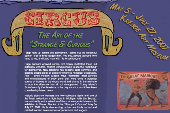 "Circus: The Art of the ""Strange & Curious"""