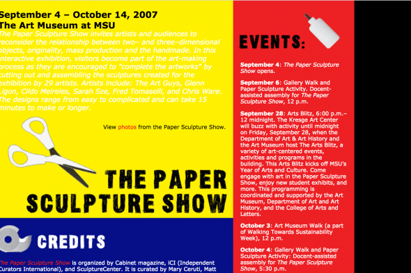 The Paper Sculpture Show