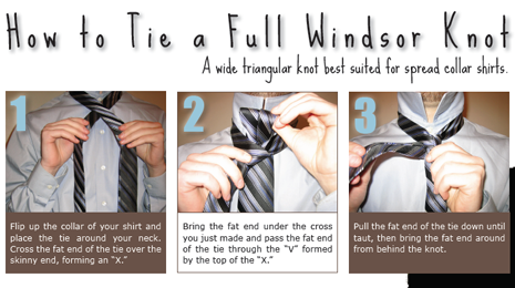 half windsor knot instructions