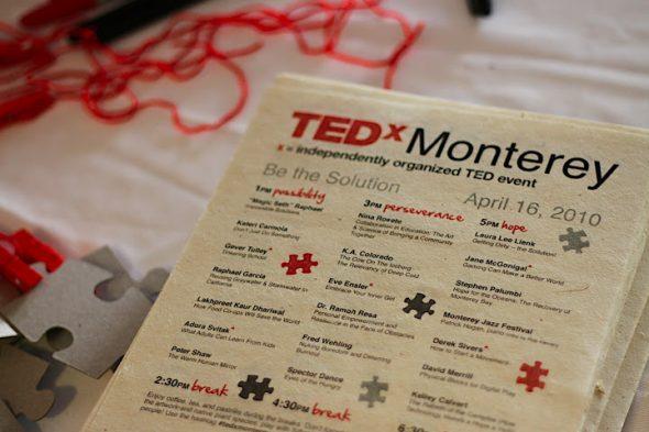 TEDxMonterey Print Materials