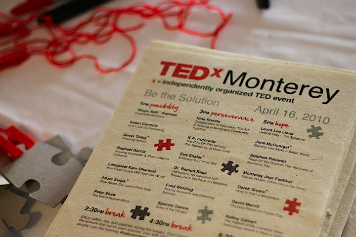 TEDxMonterey marketing materials
