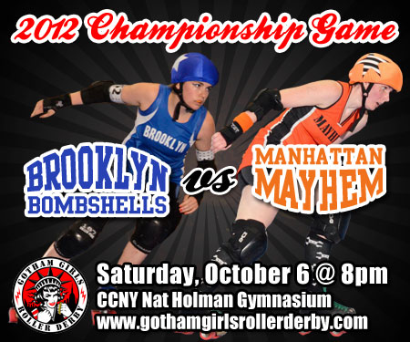 Gotham Girls Roller Derby web ads