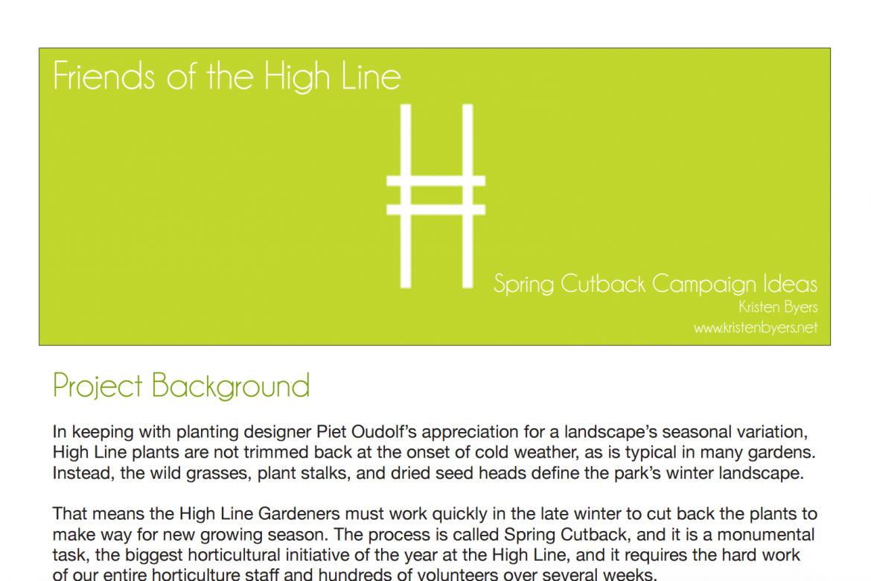 Spring cutback digital marketing campaign