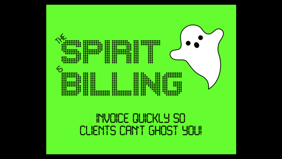Invoicing software for the Ghostbusters
