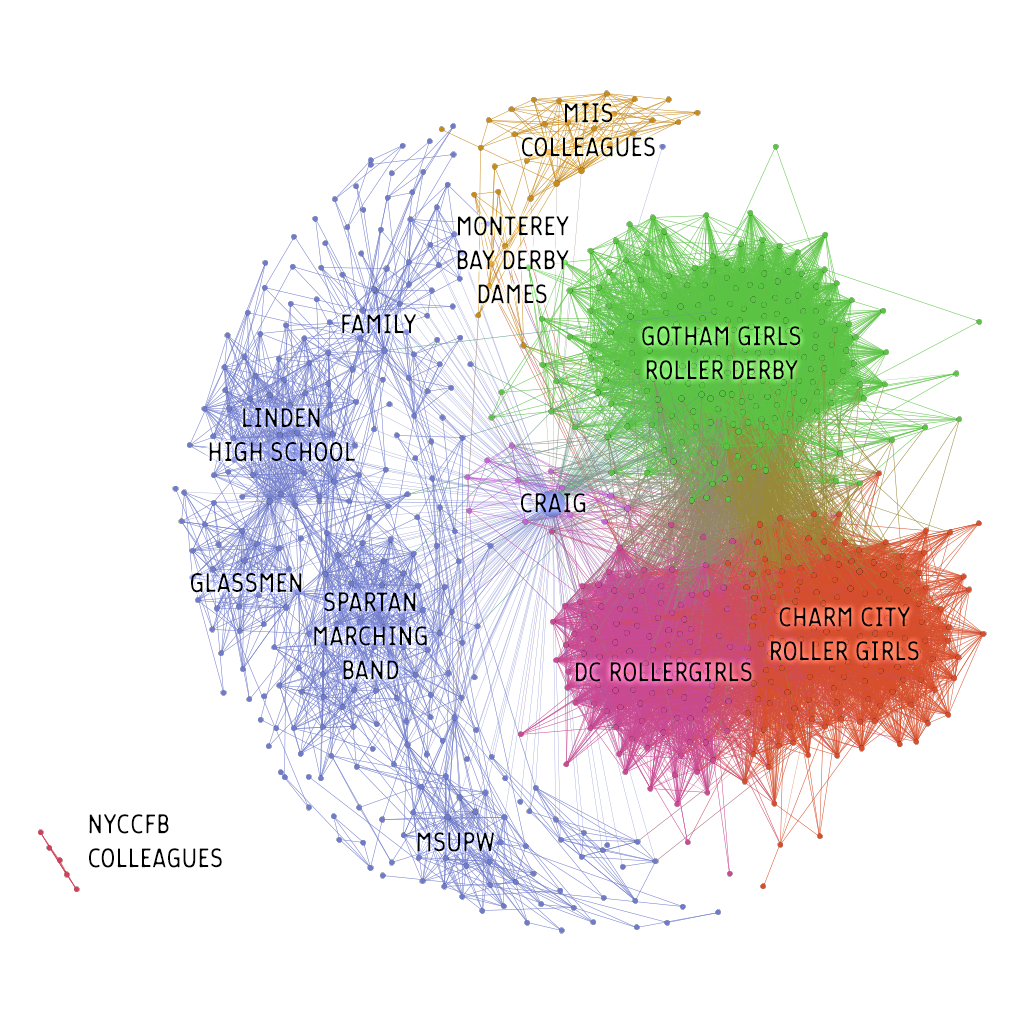 Facebook network visualization